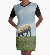 Sheep on the Hill Graphic T-Shirt Dress