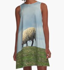 Sheep on the Hill A-Line Dress