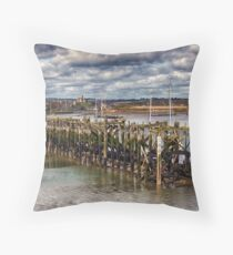 The End Of The Jetty Throw Pillow