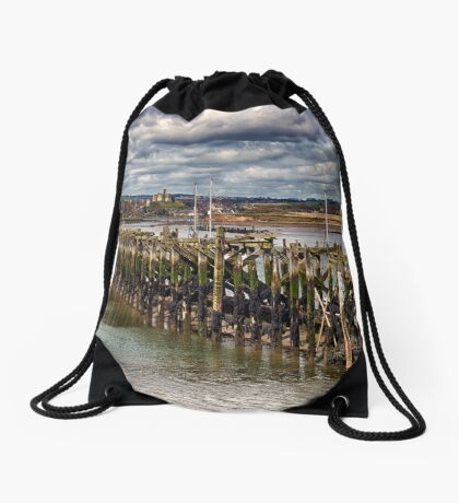 The End Of The Jetty Drawstring Bag