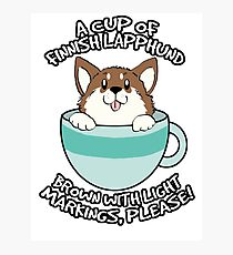 Teacup Lappie (Brown w/ Light Markings) Photographic Print