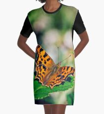 Comma Butterfly Graphic T-Shirt Dress