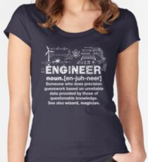 Engineer Humor Definition Women's Fitted Scoop T-Shirt