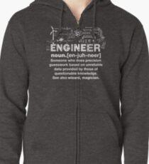 Engineer Humor Definition Zipped Hoodie