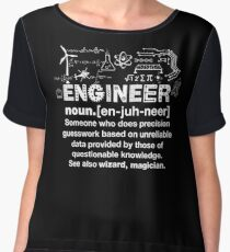 Engineer Humor Definition Women's Chiffon Top