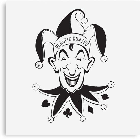 vintage joker card face canvas prints by javier martinez redbubble