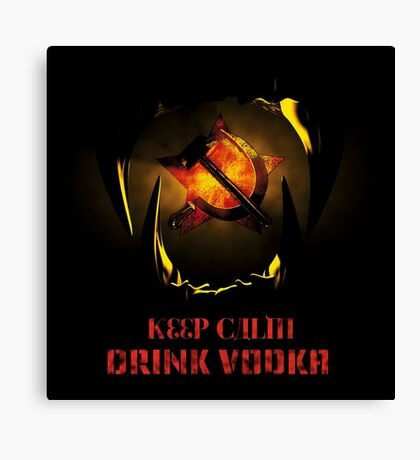 KEEP CALM DRINK VODKA Canvas Print