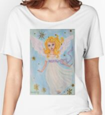 Christmas angel in the sky Women's Relaxed Fit T-Shirt