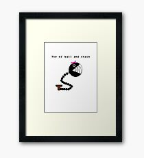The ol' Ball and Chain Framed Print