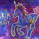 Skip Boldly. Magical Unicorn Watercolor Illustration. by mellierosetest