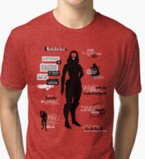 Mass Effect - Tali Quotes Tri-blend T-Shirt