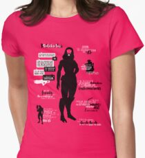 Mass Effect - Tali Quotes Womens Fitted T-Shirt