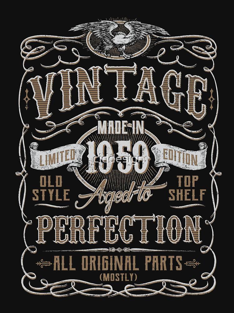 Made In 1959 Birthday Gift Idea von ciddesign