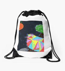 Bird flying in space Drawstring Bag