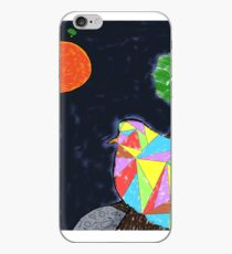 Bird flying in space iPhone Case