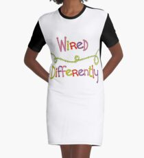 Wired Differently Graphic T-Shirt Dress
