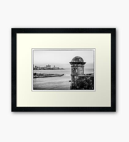 Entrance to Havana Harbor, Cuba Framed Print