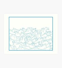 Laconic Ocean storm waves  Art Print