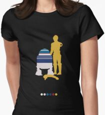 Androids (White Background) Womens Fitted T-Shirt