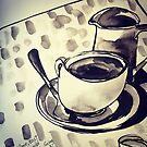 Dark coffee on a stormy day by Evelyn Bach