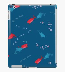 Blue Dolphin and Shark iPad Case/Skin