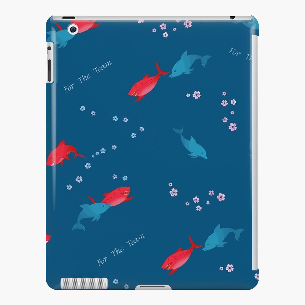 Blauer Delphin und Hai iPad-Hülle & Skin