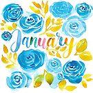 Januar Aquarell  von farbcafe
