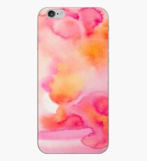Pink & Orange Sea - Abstract Watercolor Coral Reef Collection iPhone Case