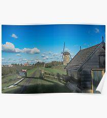 Dutch Clouds at Kinderdijk Nederlands (UNESCO Site) Poster