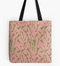 Asparagus on pink Tote Bag