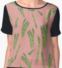 Asparagus on pink Women's Chiffon Top