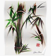MOTU - Sumie mixed media bamboo painting Poster