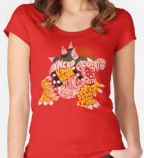 Bowser Typography Women's Fitted Scoop T-Shirt
