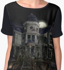 Halloween Haunted House Chiffon Top