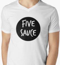 five sauce  Men's V-Neck T-Shirt