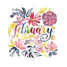 """Februar Aquarell """"Dreamy Flowers"""" von farbcafe"""