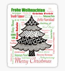 Worldwide Merry Christmas Sticker