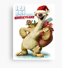 CHRISTMAS FOR ICE AGES WHITE Canvas Print