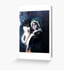 CHRISTMAS FOR ALICE COOPER SPIDER Greeting Card