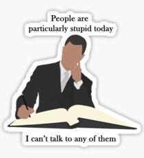 Michel - People are stupid Sticker