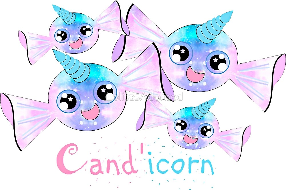 Cand'icorn - Kawaii Candy Unicorn by LolitasAdorned