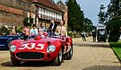 1957 Ferrari 315S Scagleitti Spyder arrives at Hampton Court Palace by MarcW