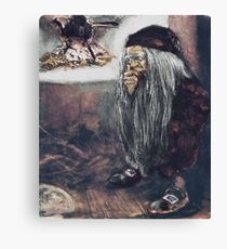 Tomte or Troll by the Fire Canvas Print