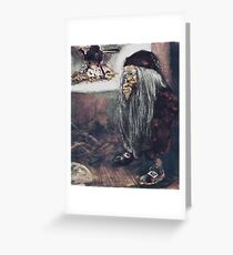 Tomte or Troll by the Fire Greeting Card