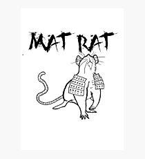 The Mat Rat Photographic Print