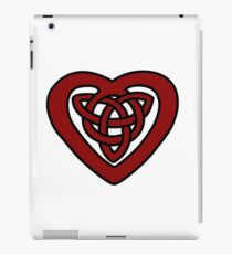 Red Celtic Knot Heart iPad Case/Skin