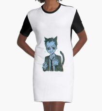Meowiarty Graphic T-Shirt Dress