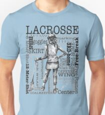 Word Montage-LACROSSE (Female-Border) Unisex T-Shirt