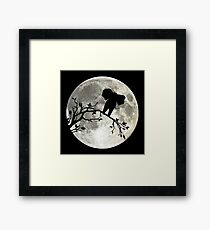 The Elephant And The Moon Framed Print