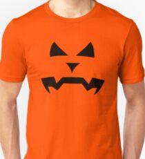 """Kerouac"" Jack O'Lantern - Halloween- Pumpkin, Orange, Black, All Hallows Eve, Simple, Contemporary Unisex T-Shirt"